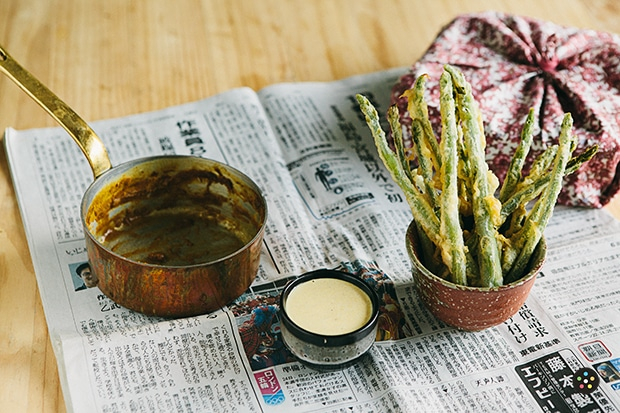 Asparagus Fries with Curry Mayo2