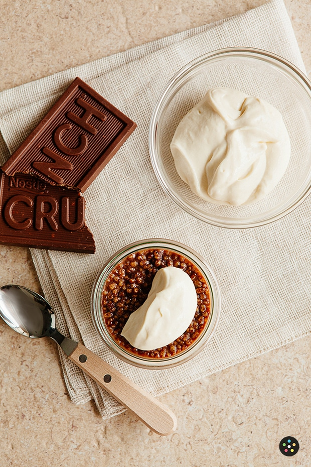 Nestle Crunch Panna Cotta Topped with Cream Cheese Mousse2