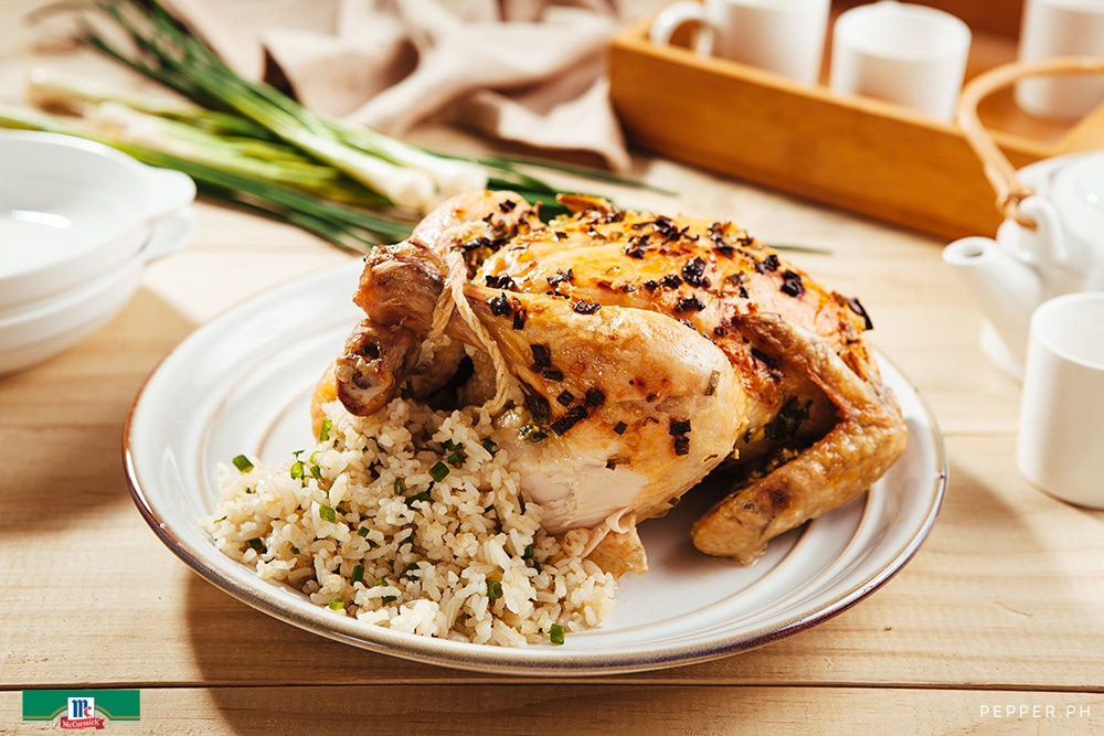 Hainanese Rice Stuffed Chicken1