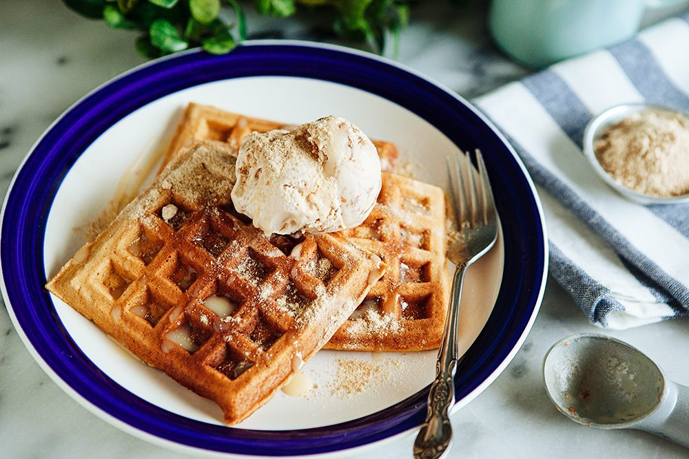 Malt Waffles with Cookie Dough Ice Cream2