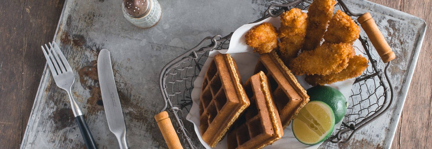 Cornbread Waffles and Beer-Battered Fried Chicken Because ...