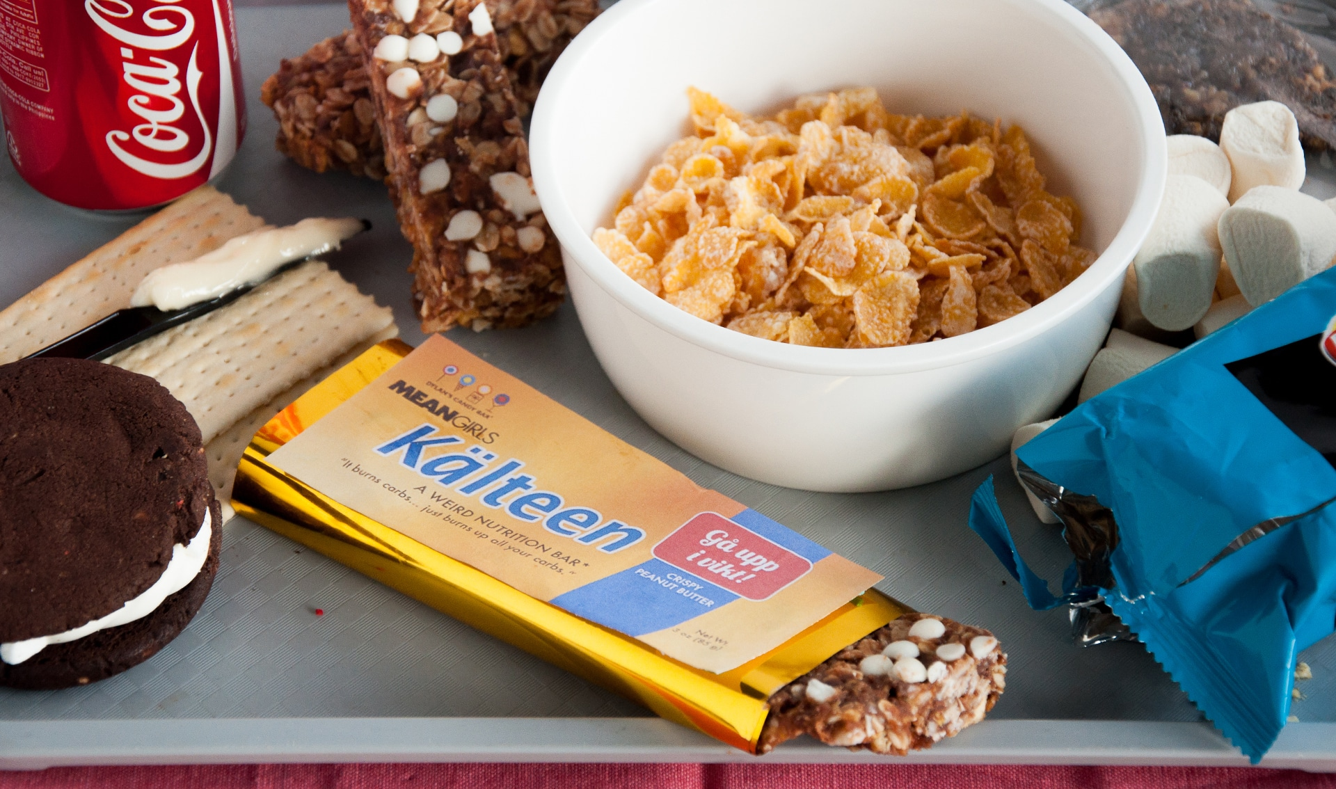 This kalteen bar will make fetch happen for Food bar meaning